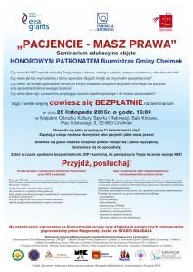 plakat seminarium prawa pacjenta